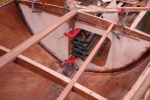 New bulkhead and new deckbeams.