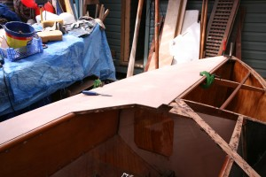 Foredeck going on.
