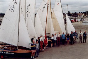 Jollyboats line up at Hamble